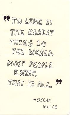 i don't want to just exist.