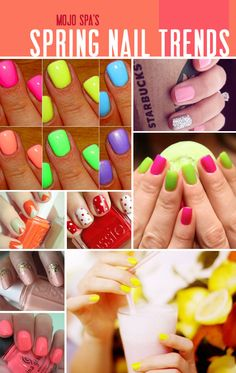 These nail trends remind me of something you could use for a cool Easter or  a cool spring time outfit. Or if you just are feeling happy!