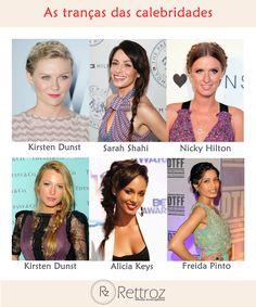 Olha só os diversos estilos de tranças que já fizeram a cabeça das famosas!