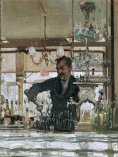 Ambrose Patterson (1877-1966).  Le bar, St Jacques, Paris, c.1904, oil on canvas, 48.2 x 59.7 cm, Art Gallery of South Australia, Adelaide.