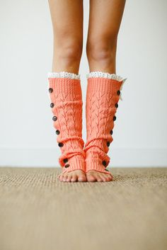 Coral Knitted Button Down Leg Warmer http://www.nanamacs.com/coral-knitted-button-down-leg-warmer/ #coral #warm #adorable