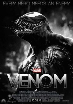"""You are watching the movie Venom on Putlocker HD. When Eddie Brock acquires the powers of a symbiote, he will have to release his alter-ego """"Venom"""" to save his life. Film Venom, Venom Movie, Movie Posters For Sale, Marvel Movie Posters, Marvel Movies, Horror Posters, Streaming Hd, Streaming Movies, Jurassic World"""