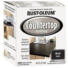Rustoleum Countertop Paint Drying Time : Rust-Oleum Transformations Countertop Coating, Quart, Black ...