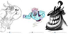 Secret Concept Art for Disney Characters