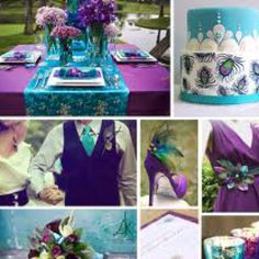 Turquoise and purple wedding colors - Kamri do you like this? I think I'm falling in love with these colors!