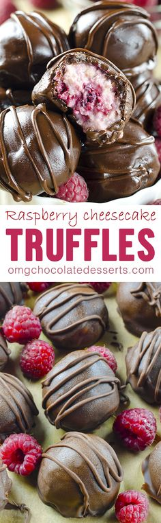 Raspberry Cheesecake Truffles are wonderfully rich and easy to make truffles - most decadent truffle you have ever tried!Chocolate Raspberry Cheesecake Truffles are wonderfully rich and easy to make truffles - most decadent truffle you have ever tried! Mini Desserts, Brownie Desserts, Chocolate Desserts, Just Desserts, Cake Chocolate, Chocolate Chips, Chocolate Gifts, Cake Truffles, Cupcakes