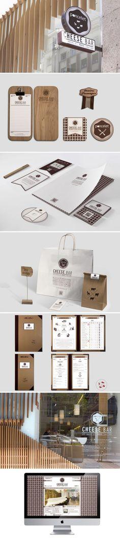 Unique Branding Design, Poncelet Cheese Bar #branding #design (http://www.pinterest.com/aldenchong/):