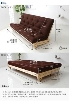 Sofa Come Bed Furniture, Folding Furniture, Diy Pallet Furniture, Home Decor Furniture, Furniture Design, Sofa Bed, Beds For Small Spaces, Diy Sofa, Home Room Design