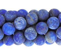 8mm Frosted Lapis Lazuli Beads 15 strand. Matte от Elizcobeads