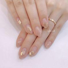 # Bridal # sparkly nail # Uruuru nail # Wurtz and nail # adult cute nail # transparency # dullness color # office nail # kimono # kimono also to nail Chic Nails, Stylish Nails, Swag Nails, Elegant Nail Designs, Nail Art Designs, Nails Factory, Beauty Nail, Korean Nail Art, Nagellack Design