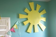 "Use sunshine for ""You are my sunshine"" board."