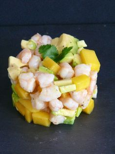 tartare de crevettes mangue et avocat recette. Black Bedroom Furniture Sets. Home Design Ideas