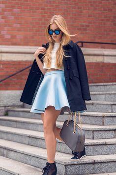 Marcherry: Trendy Womens Round Cat Eye Revo Lens Matte Black Sunglasses 9584