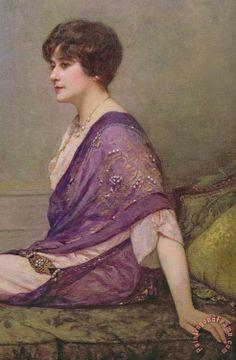 Portrait of the Couturier Madame Paquin (detail) - Henri Gervex