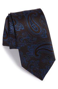 Men's Brioni Paisley Silk Tie