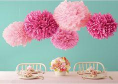 la decoración de mis mesas: Decoración para reuniones : Pompones de papel China