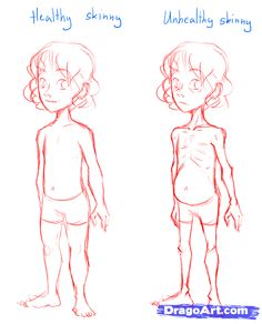How To Draw Skinny People Draw Skinny Bodies Step By Step Anatomy