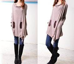 Anémone-robe asymétrique tunique (Q3102) de idea2lifestyle sur DaWanda.com