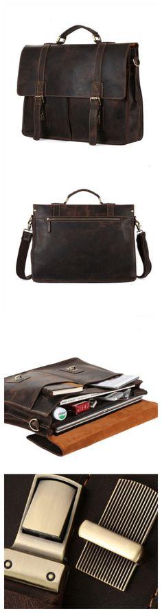 #vintage #leather #men #bag #briefcase #messenger #bag