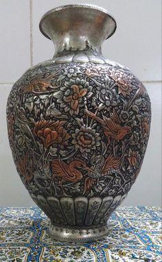 Honesty Large Antique Moser Gold Hand Painted Turkish War Battle Scene Cobalt Vase Urn Glass Bowls