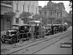 Estación de Servicio COPEC en Alameda con Ejercito 1940 Santa Lucia, San Diego, San Francisco, Gas Station, Old Photos, Places To Travel, Street View, Black And White, History