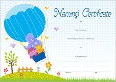 Owl Naming Certificate - Pink Wedding Renewal Vows, Name Day, Certificate, Owl, Names, Pink, Saint Name Day, Owls, Pink Hair