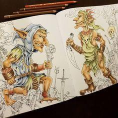 """Páči sa mi to: 235, komentáre: 17 – Stanka (@stanislava007) na Instagrame: """"Just finished 2nd creature. Mythomorphia by Kerby Rosanes Colored with Polychromos. #mythomorphia…"""""""
