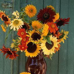 Create a bouquet with native, seasonal flowers. This just screams fall! Thanks, Organic Gardening.