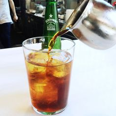 On days where it's so hot you can't even think about anything except how hot it is, cold brew fizz will keep you buzzing and cool you down.