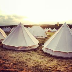 Belle Tents ready and waiting Global Gathering 2012