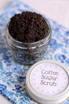 I love this idea for using coffee in a sugar scrub recipe. It's so easy to make only taking 3 ingredients and a few minutes. Makes my skin feel great too. Even though I don't like coffee this sugar scrub is one I'll be making over and over again. This is a great one to make to deal with that winter dry skin or use in the summer to smooth out those rough dry spots on the skin. The coffee and sugar make great exfoliators. Plus you can upcycle your old coffee ground into t