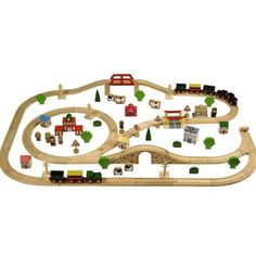 Wooden Train Set 100pcs  sc 1 st  Pinterest & BRIO - Wooden Toys http://www.smallable.com/1841-brio | Toys ...