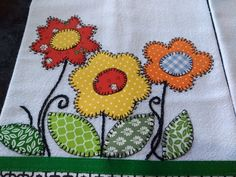 Sewing Embroidery Designs At Home Is Real Fun. Hand Embroidery Patterns, Applique Patterns, Applique Designs, Machine Embroidery Designs, Applique Towels, Applique Quilts, Quilting Projects, Quilting Designs, Sewing Projects