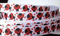 3/8 Ladybug Ribbon-3 Yards