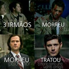 3 irmão que se amam !! Destiel Supernatural, Supernatural Series, Dean Castiel, Supernatural Bunker, Wolf Girl, Teen Wolf, Brothers Conflict, Happy Tree Friends, Nerd