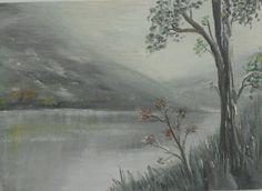 Misty Landscape  Original Oil Painting 7 x5