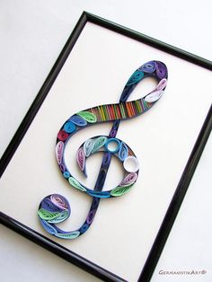 Treble Clef Wall Art Quilling treble clef Music Wall Art