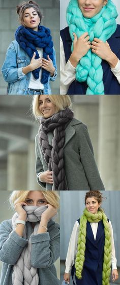 Taffy Chain Scarf. Premium Collection, Extra Fine Merino wool (19-micron  merino wool) 0d1c6543205