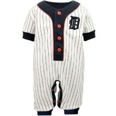 Amazon.com: Detroit Tigers Baby Pinstripe Uniform Coveralls