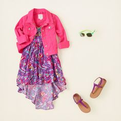 The Children's Place - Girls Flowing Florals {Hello Hi-Low Dress} So Cute for Spring!!