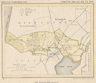 oude prenten en kaarten An Kalf/Kuyper gemeentekaarten Noordholland