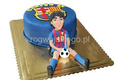 Tort FC Barcelona | Leo Messi cake Sugar Paste, Gum Paste, Messi, Barcelona Cake, Fondant Figures, Wanderlust Travel, Sporty, Create, Birthday