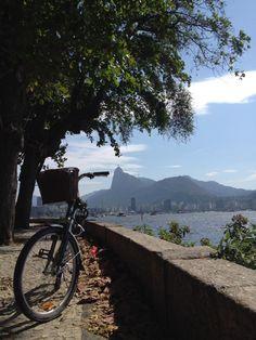 Urca borough over looking the Guanabara Bay and far, the Corcovado hill. Rio de Janeiro , Brazil