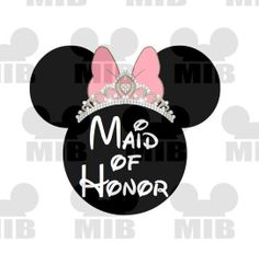 Disney Wedding MAIDor MATRON of HONOR Perfect for by MiceInBlack, $5.00