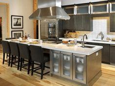 social-space-kitchen-island Kitchen Island With Sink And Dishwasher, Kitchen Island Table, Modern Kitchen Island, Kitchen Island With Seating, New Kitchen, Kitchen Islands, Kitchen Cabinets, Awesome Kitchen, Kitchen Small