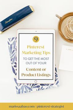 Want to know how to get the most out of your content or product listings through Pinterest marketing? In this free PDF guide, you will find out tips that will help to improve how you use Pinterest for your business. Get it now! #pinterestmarketing #pinterestvirtualassistant #virtualassistant #contentcreator #femaleentrepreneurs Free Facebook, Virtual Assistant, Pinterest Marketing, Social Media Tips, Online Business, About Me Blog, How Are You Feeling, Pdf, How To Get