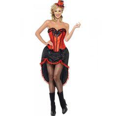 DisfracesMimo, disfraz burlesque roja deluxe talla s para mujer adulto este traje vale para el lejano oeste o para tu tematica de can can, charlestón o sexys. En todas sus apariciones como bailarina entra por la puerta del bar luciendo sus piernas.