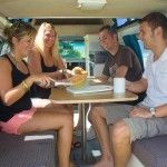 Breakfast Time in a Family 5 Campervan Hire, Breakfast Time, Touring, Budgeting, Range, Cookers, Caravan Hire, Stove, Budget Organization