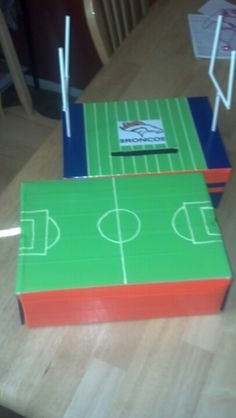 Valentine Boxes Sports themed. Duct tape, paint pen, on shoe box/ photo box