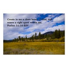 Psalms 51:10 poster by Florals by Fred #zazzle #gift #photogift